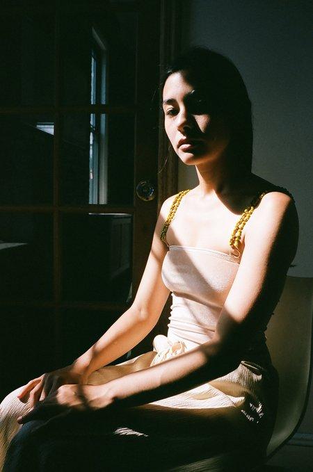 Ami Muse Beaded Bodysuit - Nude