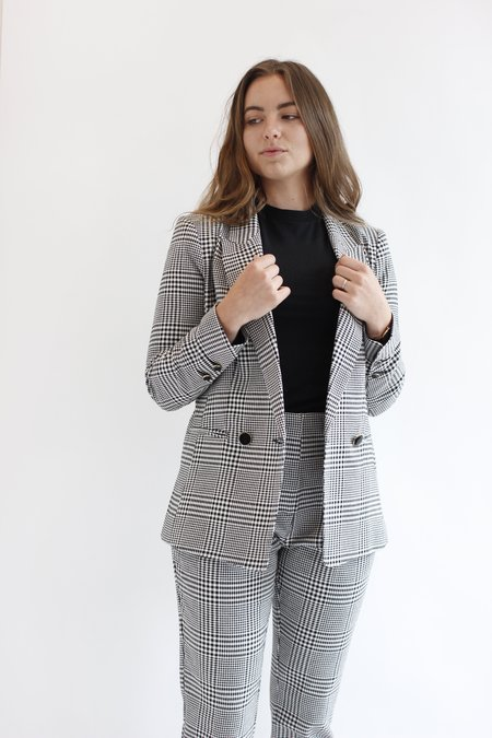 Icons Reconstructed DB Houndstooth Blazer - Black/White