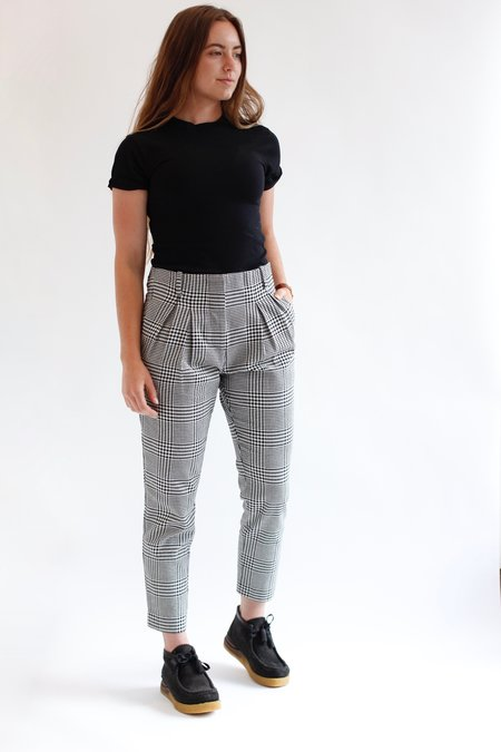 Icons Reconstructed Pleated Trouser - Houndstooth