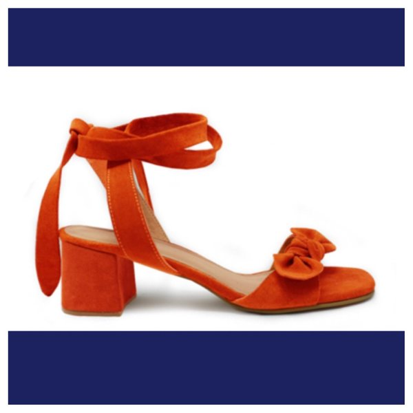 Able Knotted Wrap Heel - paprika