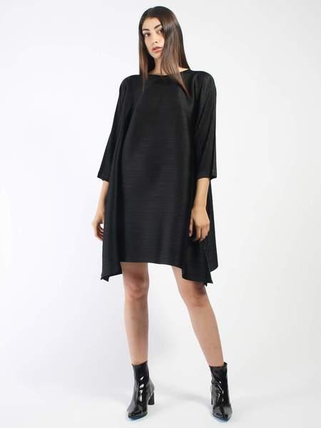 Issey Miyake Bounce Tunic Dress - Black