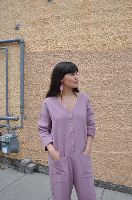 Happy French Gang Jumpsuit - Lavender