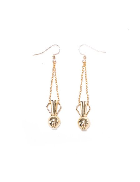 I Like It Here Club Fountain of Youth Earrings - gold plated