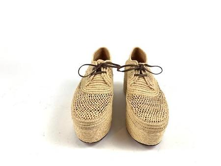 Robert Clergerie Raffia Oxford - Pollux