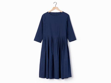 A Punto B Apuntob Pleated Dress - Navy