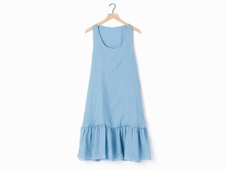 A Punto B Apuntob Ramie Dress - Cornflower