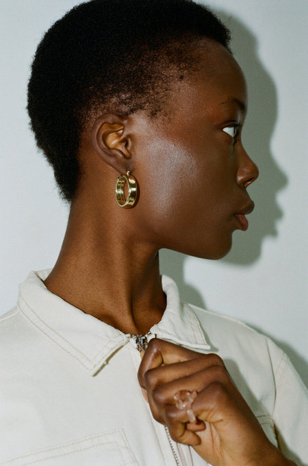 LAURA LOMBARDI Band Hoop Earrings