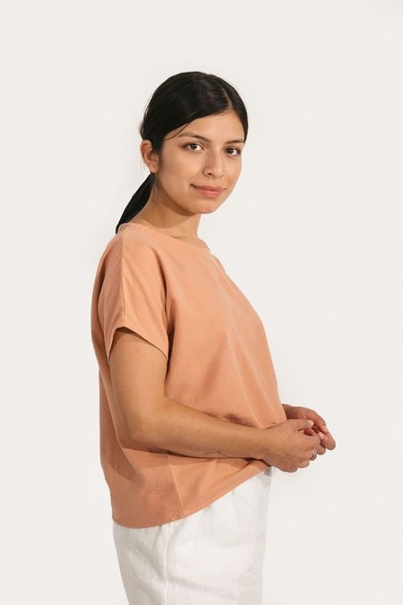 Two Fold Clothing Krissy Tee - Dusty Rose