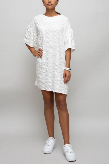 W A N T S Textured Dress - White