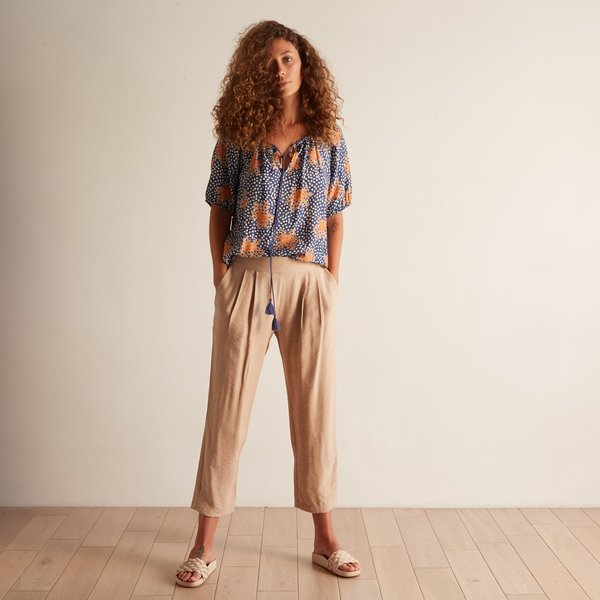 The Odells Pleat Front Pant - Sabbia