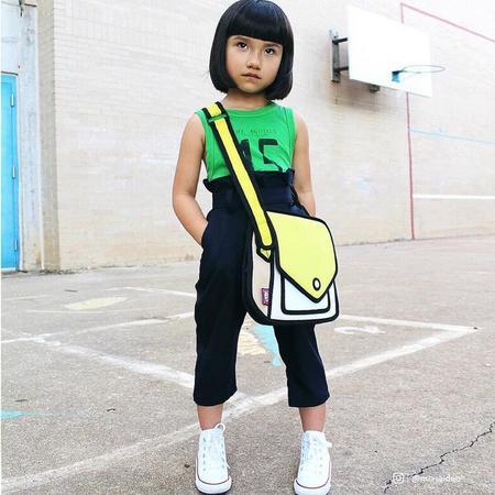 Kids Jump from Paper Giggle Junior Shoulder Bag - yellow
