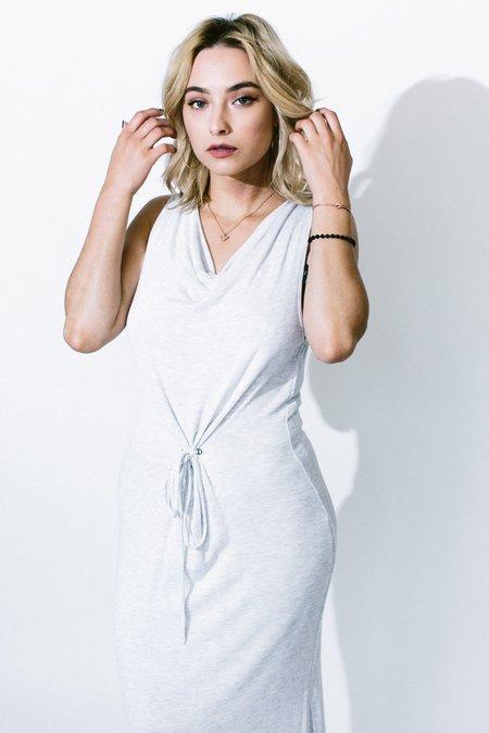 Heather ginger tie front dress - Heather Grey