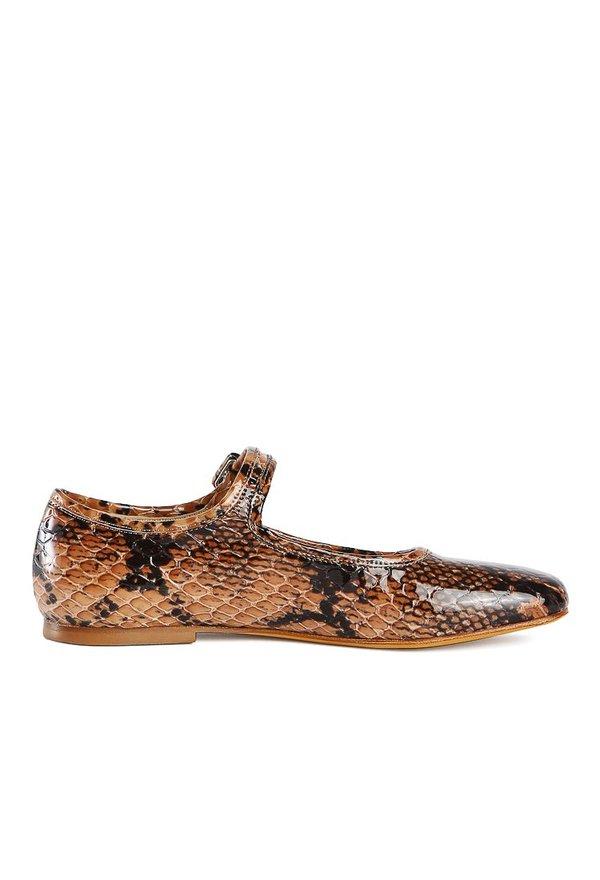 Maryam Nassir Zadeh Thelma Flat - Auburn Snake