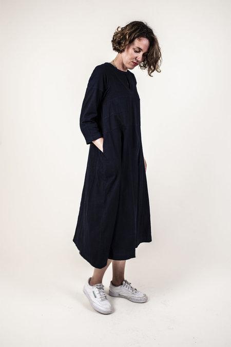 World of Crow Long Sleeve Dress - INDIGO