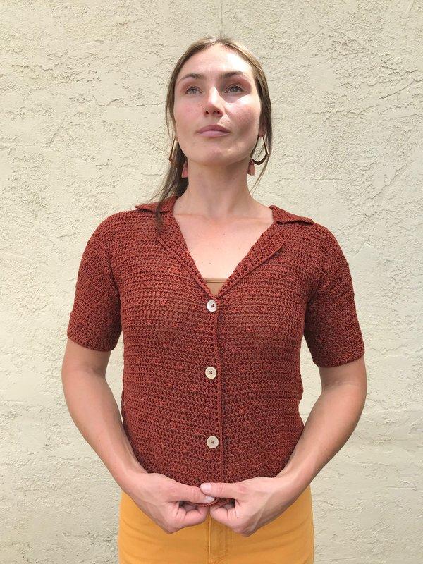 Rachel Comey Ripe Top - Brown Lace Crochet