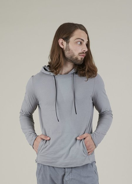 Hannes Roether Hoody Long Sleeve Shirt - GREY