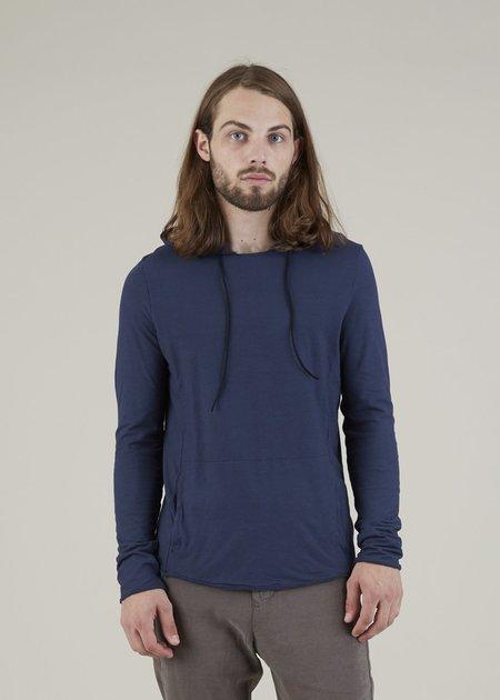Hannes Roether Hoody Long Sleeve Shirt - Navy