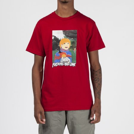 Fucking Awesome Painted Aiden T-shirt - Scarlet Red