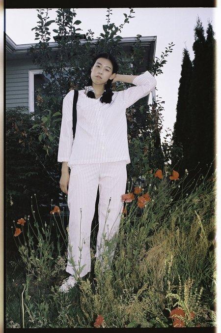Kinda Sleepwear Mary Set - Raspberry Milk Stripe
