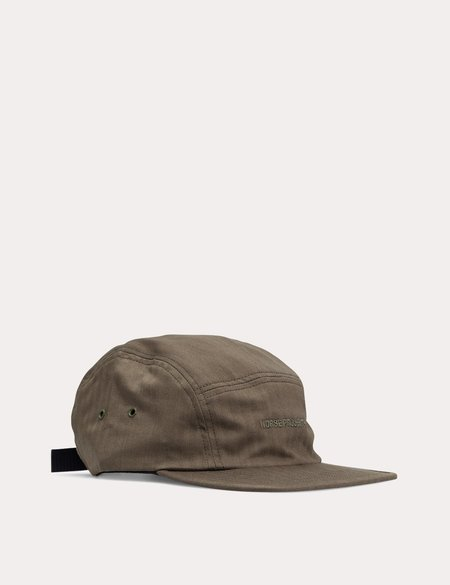 Norse Projects Herringbone Adjustable 5 Panel Cap - Ivy Green