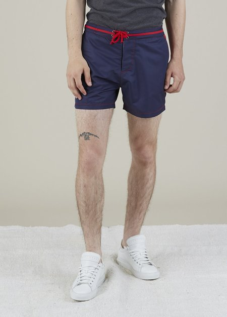 Bluebuck Classic Swim Shorts - Navy/Red
