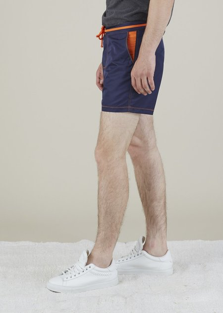 Bluebuck Classic Swim Shorts - Navy/Orange