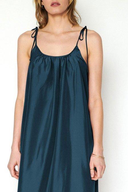 Loup Charmant Maxi Silk Slip Dress - Deep Ocean