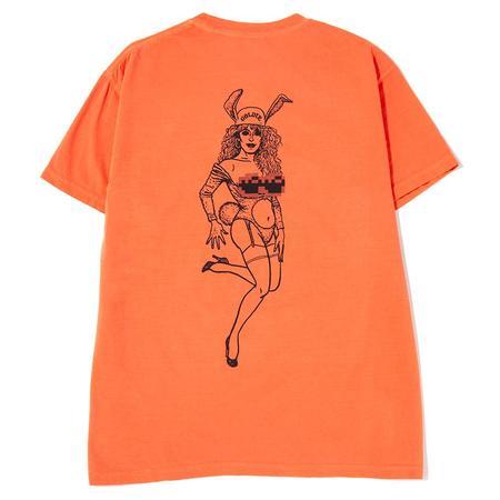 Surf Is Dead Goldie T-Shirt - Bright Salmon