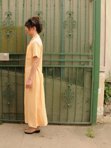 Weird Sisters Vintage Silk Button Down Dress - PEACHY