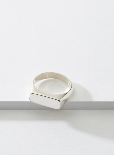 Cadette Even Signet Hand Made Ring - Silver