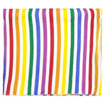 Hugo Loves Tiki Beach Towel - Rainbow Stripe