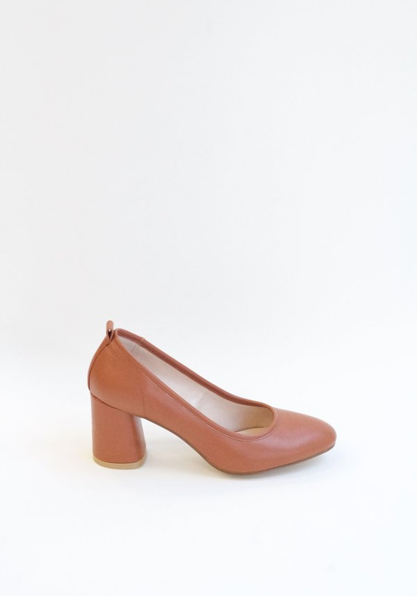 Collection & Co Angelica Block Heel - Tan