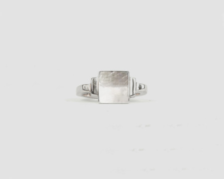 Lacar DB Signet Ring - STERLING SILVER