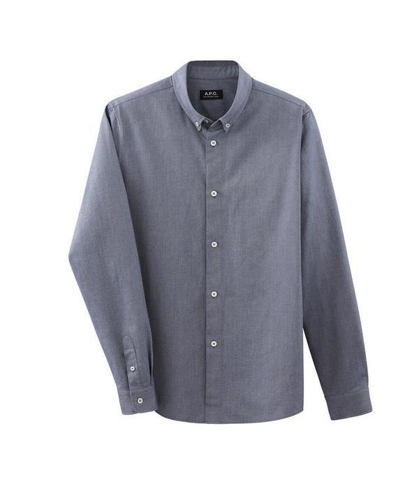 A.P.C. Button-down Shirt - Navy