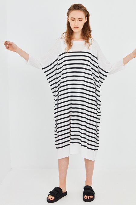 SALASAI Division Knit Dress - Black/White Stripe