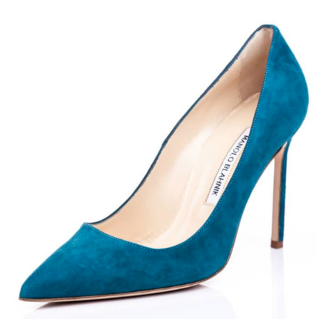 Vintage Nearly New MANOLO BLAHNICK Pump - Turquoise Suede
