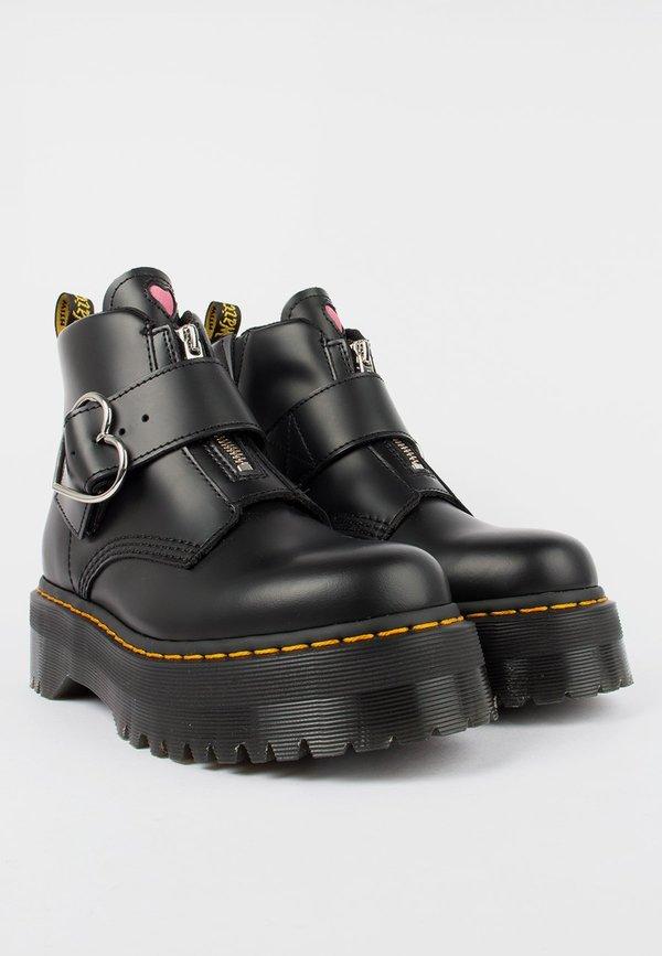 lazy oaf dr martens buckle boot