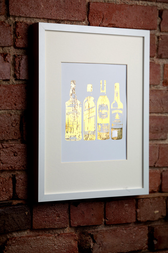 I See Noise Gold Whiskey Print
