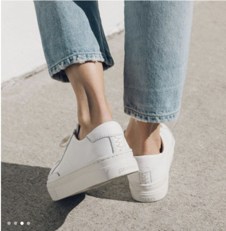 Soludos Ibiza Platform Sneaker - White