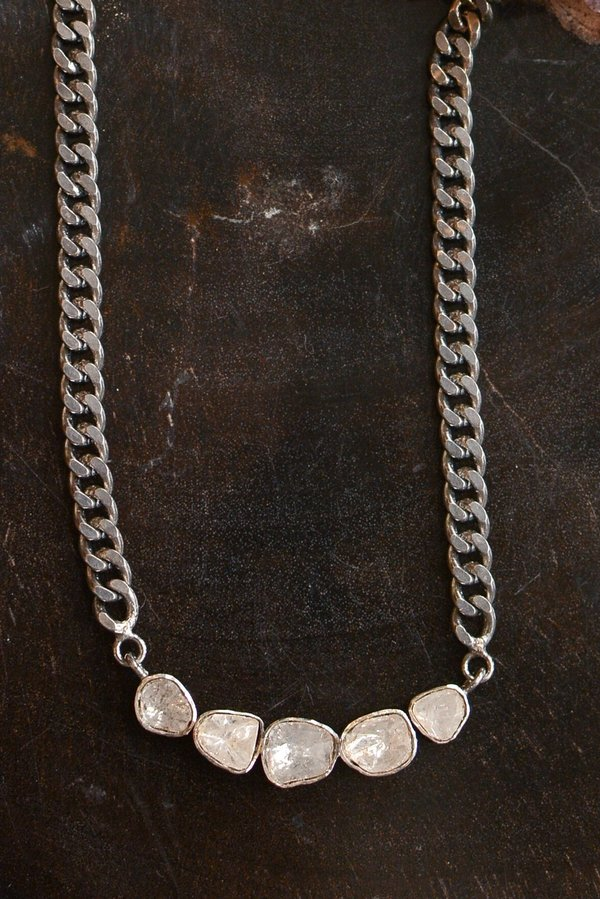 cc41433687258 Paula Rosen Polki Collar Necklace - Sterling Silver/Diamond