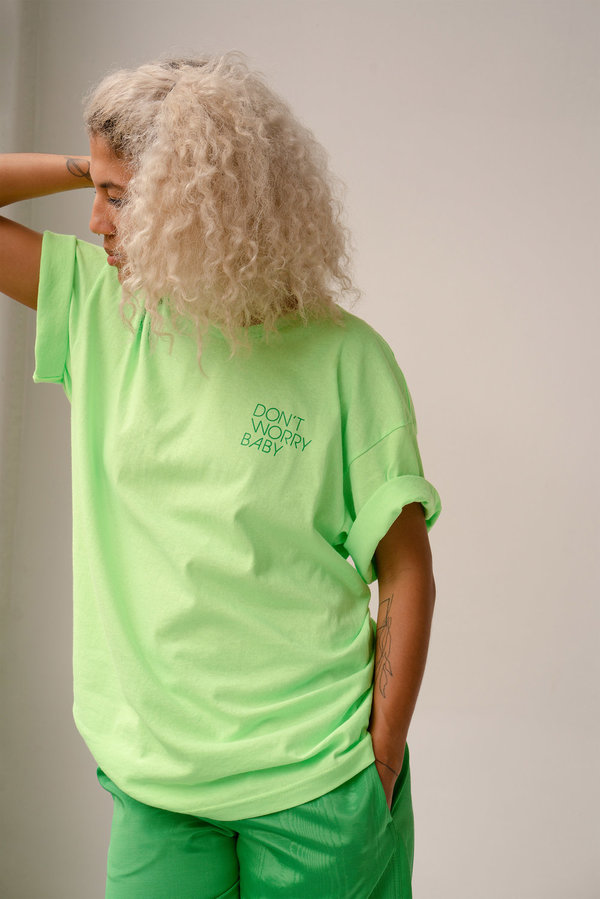 Unisex Don't Worry Baby Dream Tee - Lime