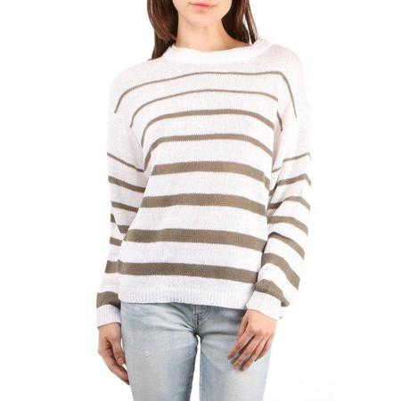 Brochu Walker Reed Stripe Pullover - Salt White Stripe