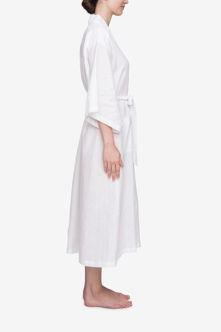 The Sleep Shirt Robe - White Linen