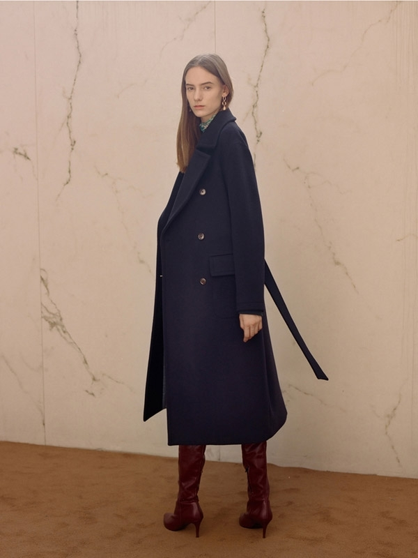 reputable site f1001 689cb Unisex ANDERSSON BELL Verona Cashmere Military Maxi Coat - Navy