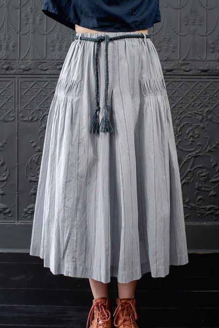 Basco Ministripe Skirt - BLUE