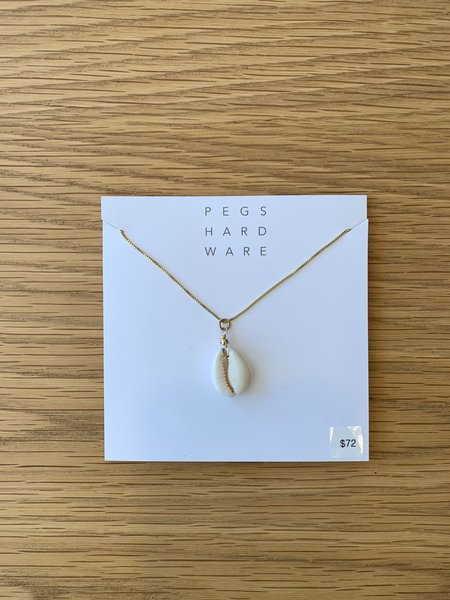 Pegs Hardware Long Necklace - Shell