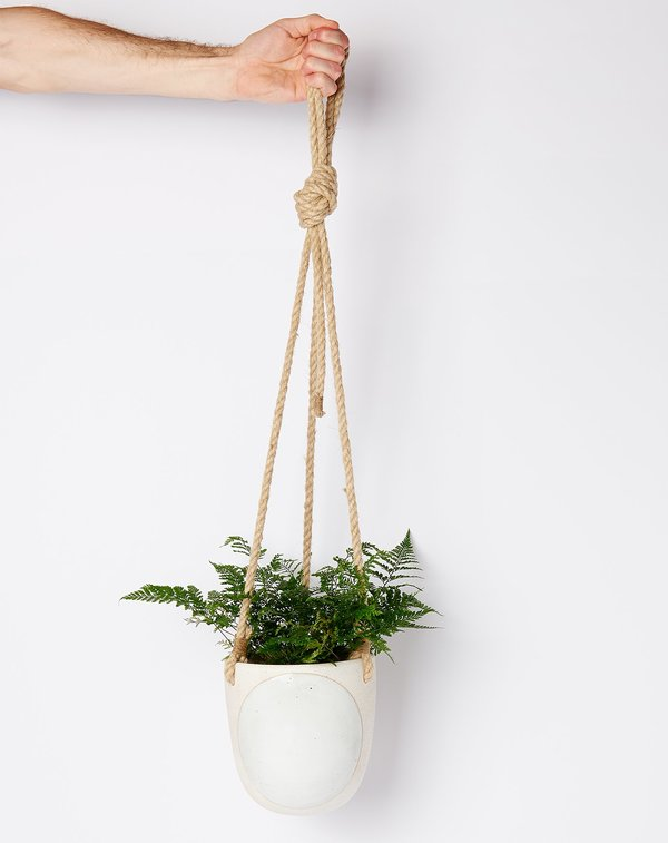 MQuan Hanging Planter - Full Moon White
