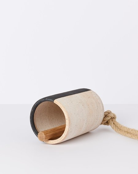 MQuan Medium Tall Thrown Bell - Black/White
