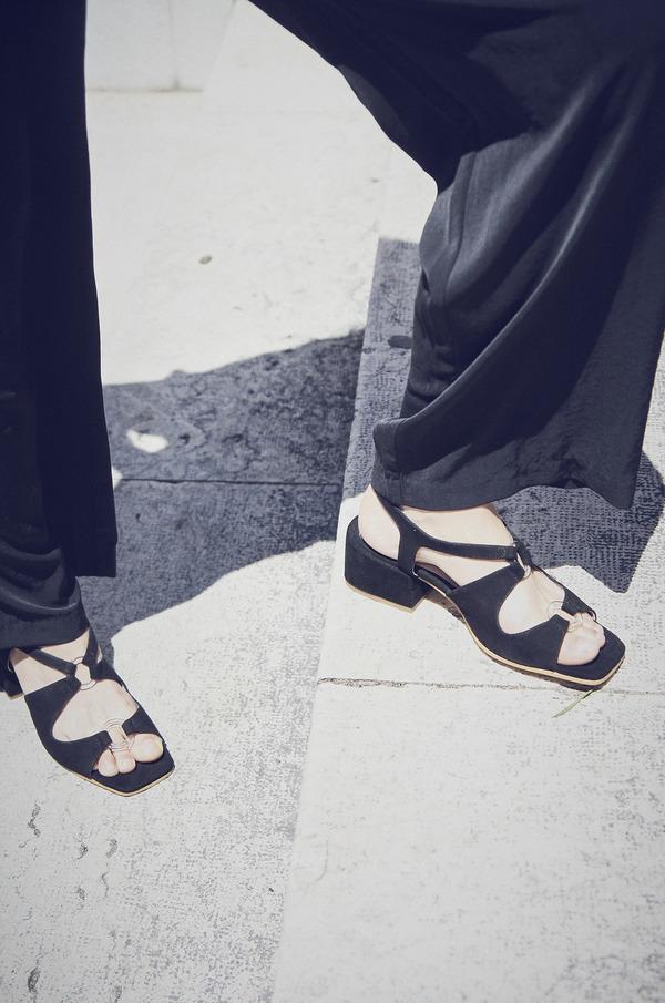 About Arianne Brava Suede Sandals - Black