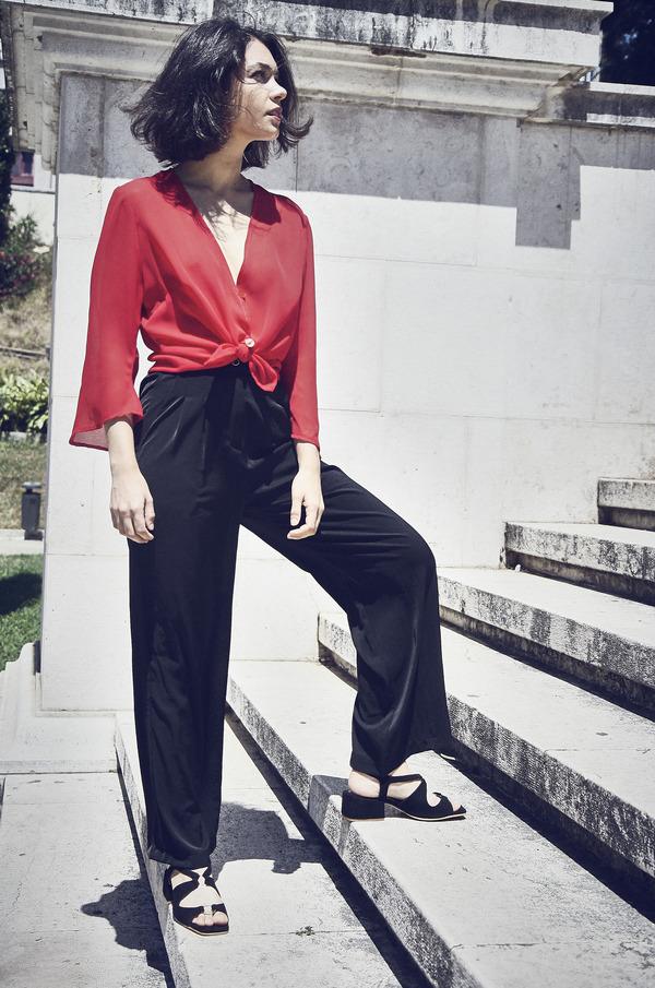 Yuka Paris Sohan High Waist Trousers - Black
